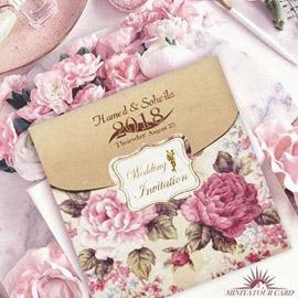 کارت عروسی مینیاتور کد M129